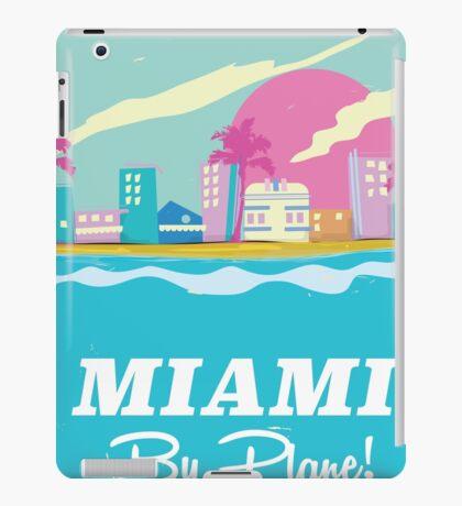 Cartoon 1980s miami vice vintage travel poster iPad Case/Skin