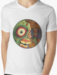 Apocalyptic circle of undead Mens V-Neck T-Shirt