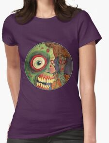 Apocalyptic circle of undead Womens Fitted T-Shirt