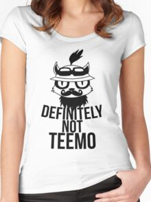 Definitely not :3 Women's Fitted Scoop T-Shirt