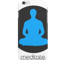 Meditate - Zen artwork iPhone Case/Skin