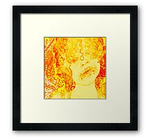 Cheese Doodled Framed Print