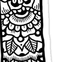 zentangle l: black/white Sticker