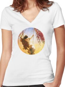 The Spring of Our Love Women's Fitted V-Neck T-Shirt