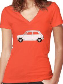 Morris Mini Cooper Women's Fitted V-Neck T-Shirt