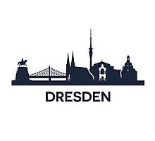 Dresden City Skyline Photographic Print