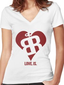 Love. Is. Women's Fitted V-Neck T-Shirt