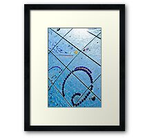A Squiggle and Squares Framed Print