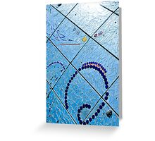 A Squiggle and Squares Greeting Card