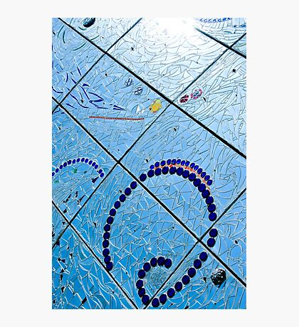 A Squiggle and Squares Photographic Print