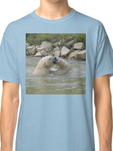 Polar Bears playing in water 3 Classic T-Shirt