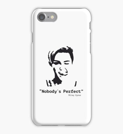 Miley Cyrus quote 1 / black iPhone Case/Skin