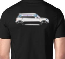 MINI, CAR, WHITE, BMW, BRITISH ICON, MOTORCAR Unisex T-Shirt