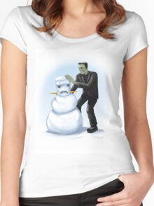 Frankenstein's Monster's Monster Women's Fitted Scoop T-Shirt