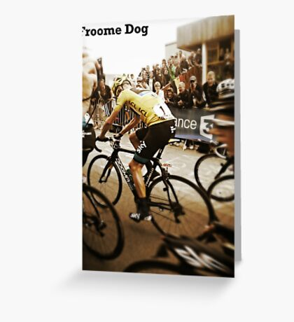 Froome Dog Greeting Card