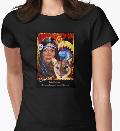 Mountain Lion Medicine Womens Fitted T-Shirt
