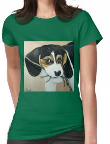 Beagle Puppy Womens Fitted T-Shirt