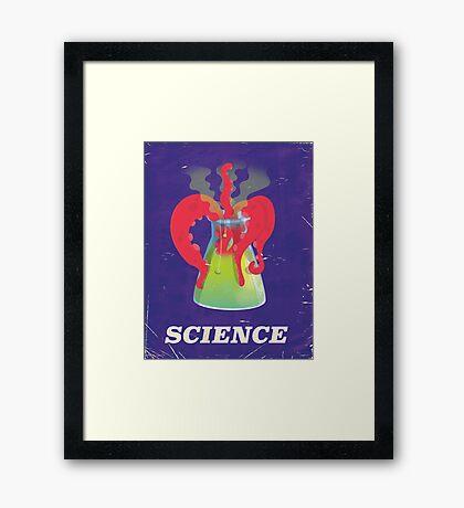 Funny vintage science experiment vintage poster Framed Print