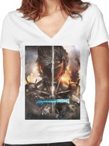 Metal Gear Rising Women's Fitted V-Neck T-Shirt