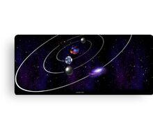 Atom Universe Canvas Print