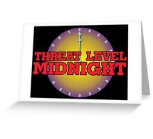 Threat Level Midnight Greeting Card