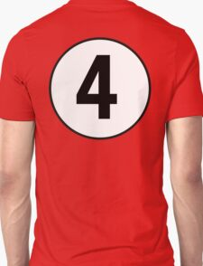 4, Fourth, Number Four, Number 4, Racing, Four, Competition, on Navy Blue T-Shirt