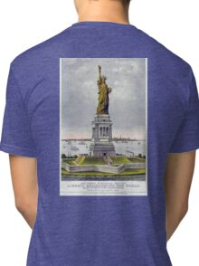 Statue of Liberty, Enlightening the World, USA, New York, America, American Tri-blend T-Shirt