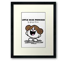 Little Miss Princess Framed Print