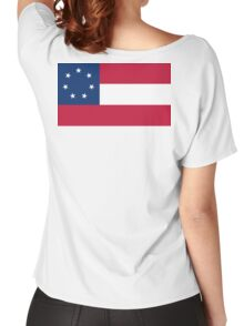Stars & Bars, USA, America, First, American, National Flag, 7 Stars, America,1861 Women's Relaxed Fit T-Shirt