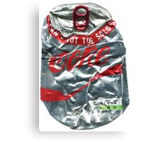 Diet Coke - Crushed Tin Canvas Print