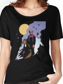 Mike Mignola style Count Chocula, Franken Berry, and Boo-Berry Women's Relaxed Fit T-Shirt