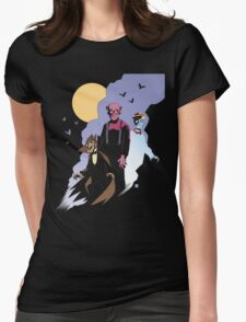 Mike Mignola style Count Chocula, Franken Berry, and Boo-Berry Womens Fitted T-Shirt