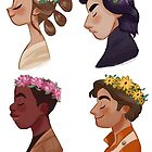 Flower crown set by Mariana Avila