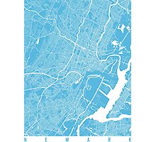 Newark map blue Photographic Print