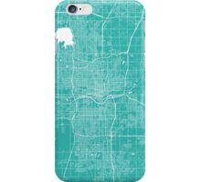 Oklahoma City map turquoise iPhone Case/Skin