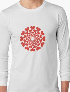 abstract red heart flower T-Shirt