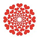 abstract red heart flower by beakraus