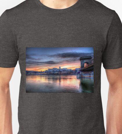 At Chain Bridge, Budapest Unisex T-Shirt