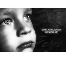 Child in war Photographic Print