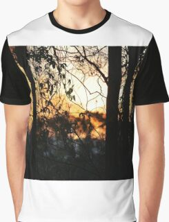 Sunset Behind The Scenes Graphic T-Shirt
