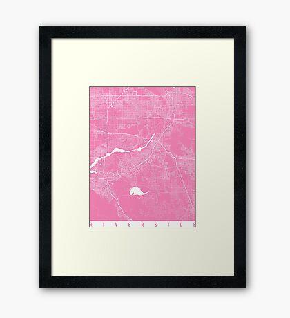 Riverside map pink Framed Print