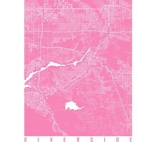 Riverside map pink Photographic Print
