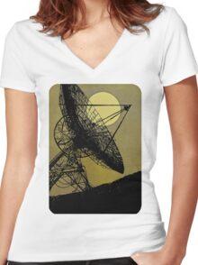Satellite Dish 1965 Women's Fitted V-Neck T-Shirt