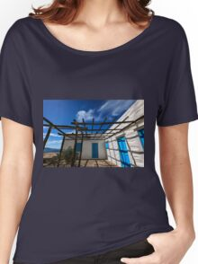 Traditional white house with pergola Women's Relaxed Fit T-Shirt