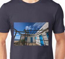 Traditional white house with pergola Unisex T-Shirt