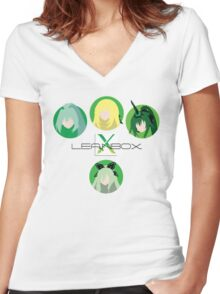 Leanbox Guardians v2 Women's Fitted V-Neck T-Shirt