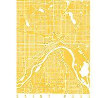 Saint Paul map yellow Photographic Print