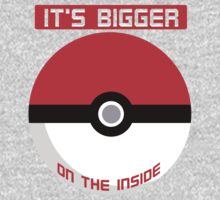 Pokemon - It's bigger on the inside.. Kids Tee