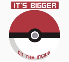 Pokemon - It's bigger on the inside.. Kids Tee