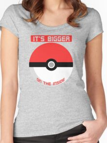Pokemon - It's bigger on the inside.. Women's Fitted Scoop T-Shirt